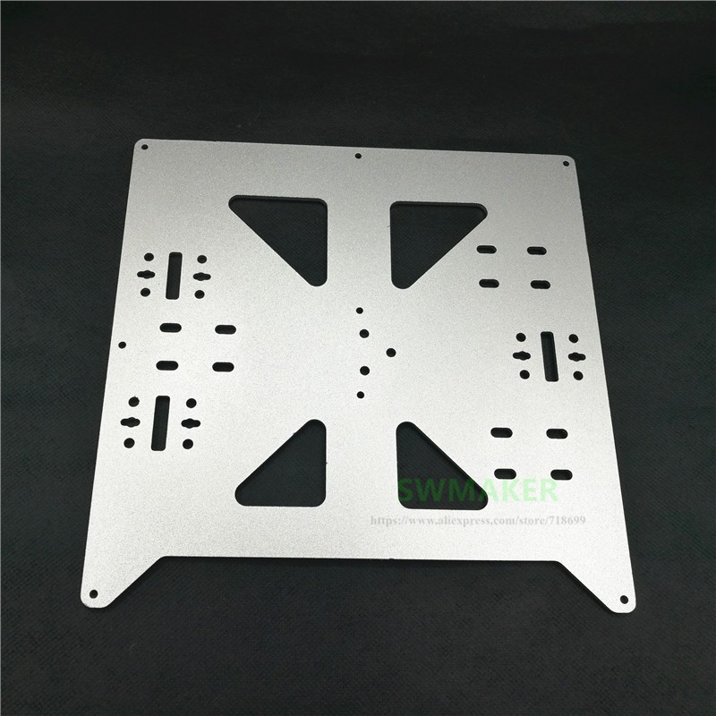 Reprap Prusa i3/Anycubic MEGA i3 anodized Aluminium alloy heated bed support Y carriage tray 3D printer parts image
