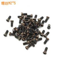 100 Uds M2 * 5 CNC herramientas de torneado de alta calidad tornillos accesorios ciruela tornillos CNC cuchillas de carburo accesorios M2 * 5mm