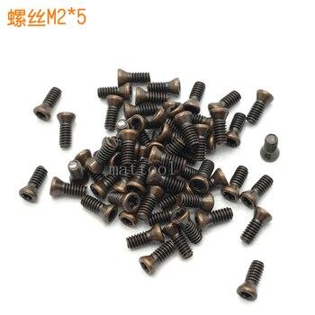 100 Uds M2 * 5 CNC herramientas de torneado de alta calidad tornillos accesorios ciruela tornillos CNC accesorios de hoja de carburo M2 * 5mm