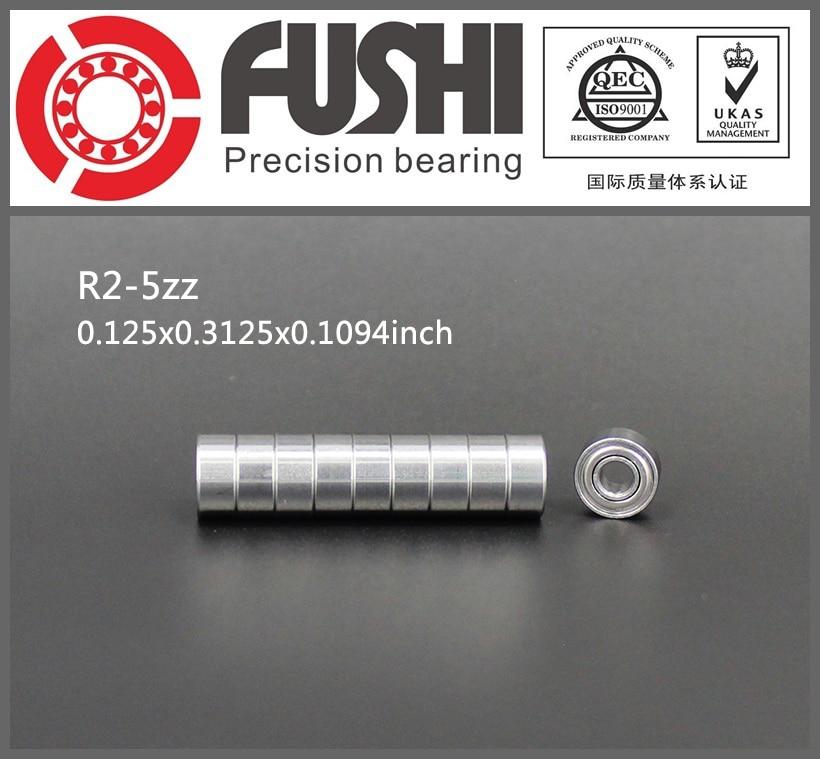 R2-5ZZ Bearing ABEC-1 (10PCS)  1/8x5/16x9/64 inch Miniature R2-5 ZZ Ball Bearings For RC Models 1pcs 71822 71822cd p4 7822 110x140x16 mochu thin walled miniature angular contact bearings speed spindle bearings cnc abec 7