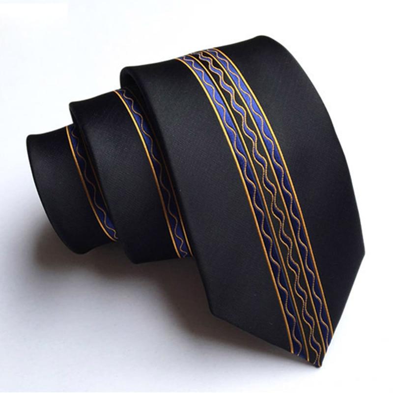 RBOCOTT Mens Fashion Skinny Tie 6cm Floral Dot And Striped Necktie Casual Style Slim Ties For Party Gravatas Corbatas Neck Tie