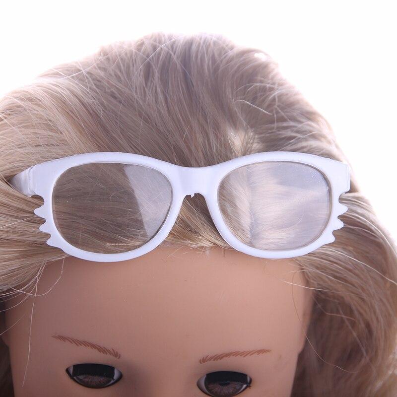 Новинка 2017 года, стильное белые очки подходит для 18 дюймов American Girl куклы подарок детям/продаем только очки M63