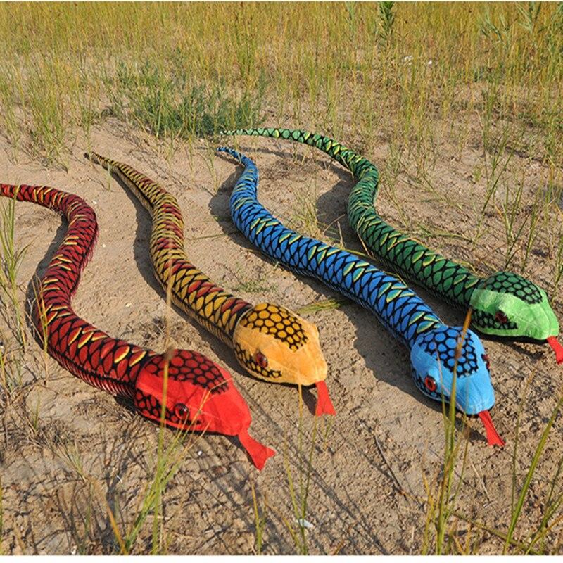 170 cm taille serpent jouet en peluche la Simulation serpent souple peluches Bithday cadeau gros et au détail approvisionnement d'usine
