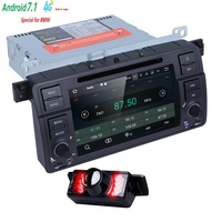 Android 7.1 Quad core HD 1024*600 ekran 2 DIN Araba DVD GPS Radyo BMW E46 M3 Için stereo wifi 4G GPS USB TSK SES DVB-T BLUETOOTH