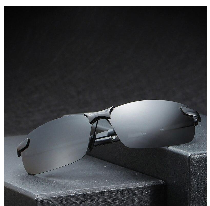 5f6a6ee851 SIMPRECT 2019 Semi-Rimless Polarized Sunglasses Men UV400 Mirror ...