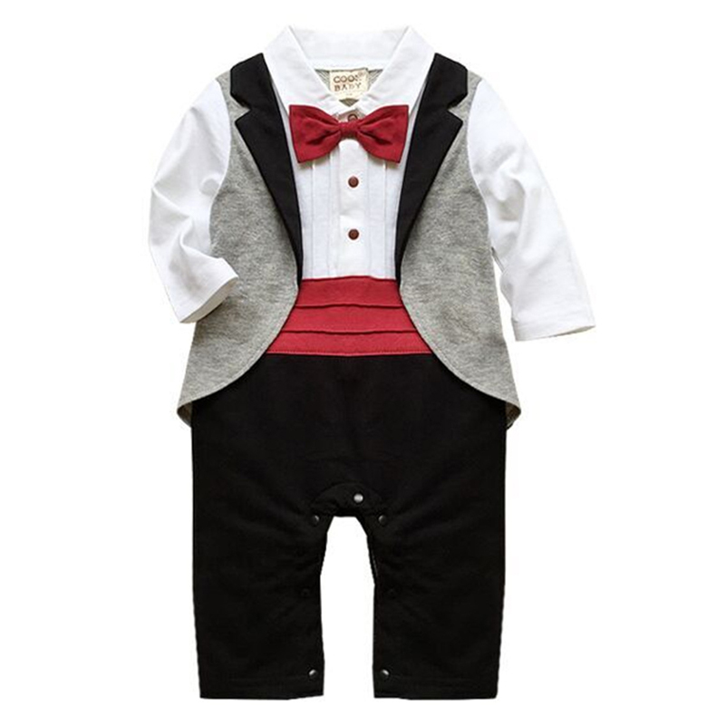 Baby Rompers Spring Baby Boy Clothes 2017 Baby Boy Clothing Sets Gentleman Newborn Baby Clothes Roupas Bebe Infant Jumpsuit newborn baby boy gentleman rompers long sleeve cotton next baby infant jumpsuit girl clothes roupas de bebe infantil costumes