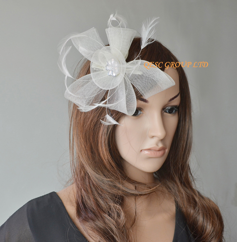Aliexpress Buy Simple Crin Fascinators Wholesaletrim Flowerbead Flower From Reliable Girl Wedding Gifts Suppliers On QESC GROUP LTD