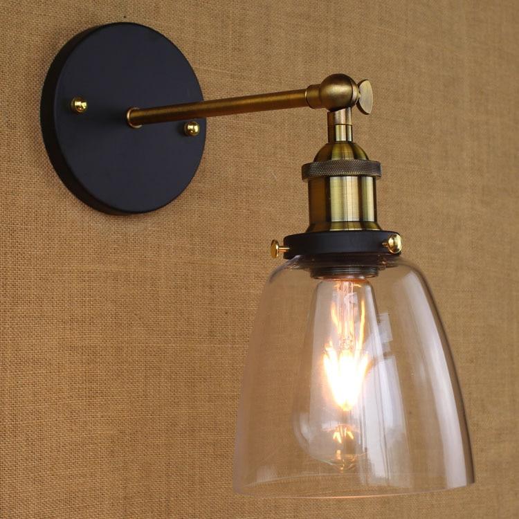 ФОТО LEDream Loft Vintage Industrial Edison Wall lamps Clear Glass  Warehouse Wall Light Fixtures E27 110V/220V Bedside Lighting