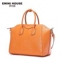 EMINI HOUSE 2016 Vintage Genuine Leather Handbags Multicolors Shoulder Bag Women Messenger Bags Crossbody Bags For