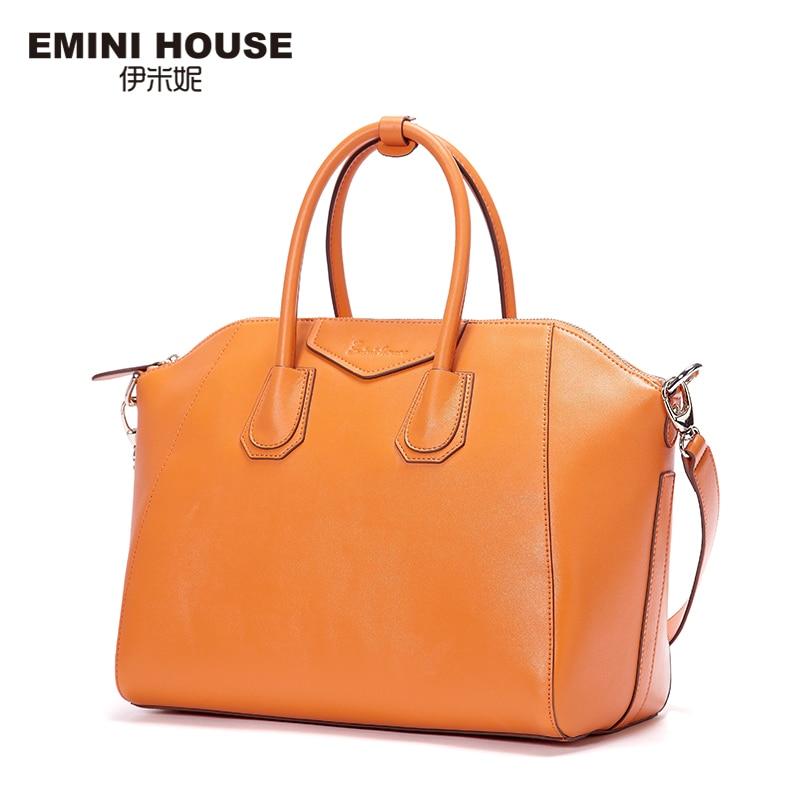 EMINI HOUSE Tote Bag Split Leather Luxur