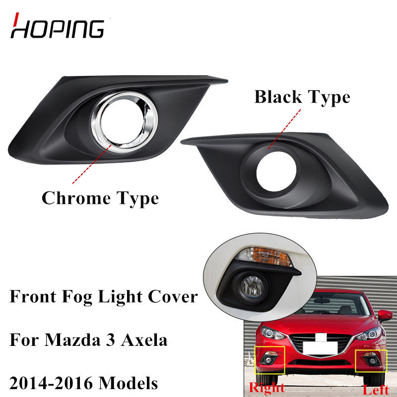 Pair Front Bumper Fog Light Cover Bezel For Mazda 3 2009 2010 BK 1.6L Frame L+R