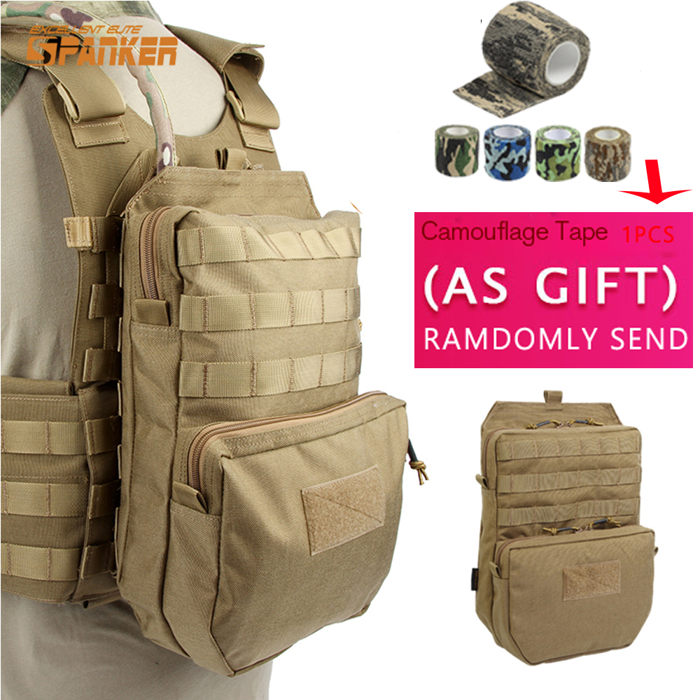 SPANKER 3L Tactical Molle Hiking <font><b>Hydration</b></font> Pack Outdoor First Aid JPC Vest Water Bag Military Assault Backpack 1000D Waterproof