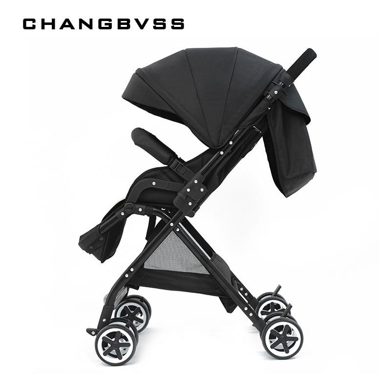 New Arrival!! High Landscape Baby Stroller Folding Can Sit Lie Pram Ultra-light Portable on the Airplane Baby Carriages carrinho the baby stroller of the aimile can sit on a bb cart in the four seasons of high landscape folding