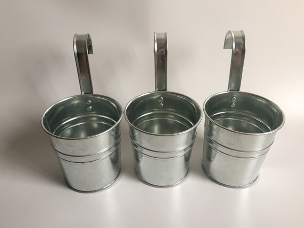 10pcs Lot D9 5xh18cm Wall Hanging Galvanized Bucket Silvery Metal Plant Flower Pots Hanging Balcony Flower Pot Sf 042 Flower Pot Hanging Flower Potpots Hanging Aliexpress