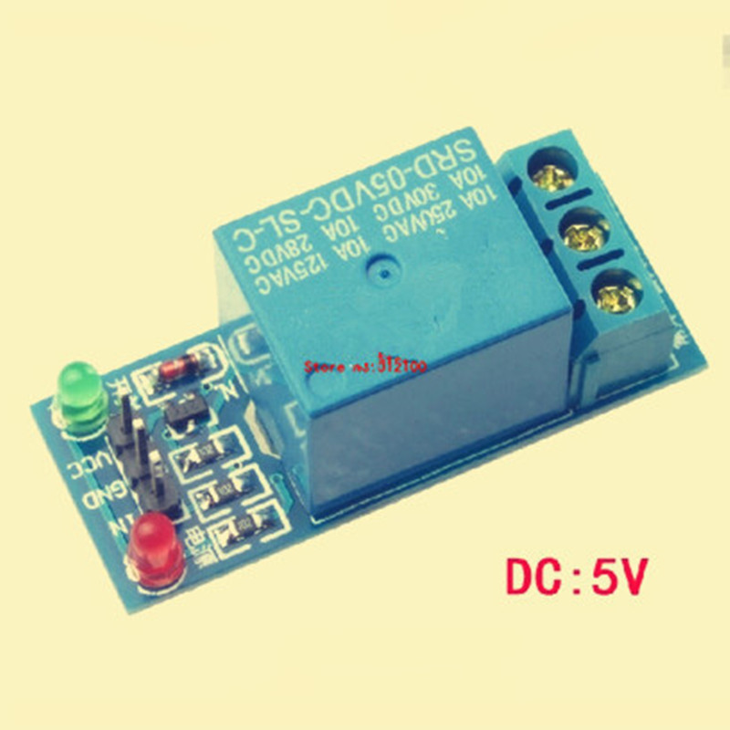 50PCS 1 Channel 5V Relay Module Low level for SCM Household Appliance Control FREE SHIPPING