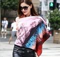 Зимы женщин кашемира шарф 2015 новый европейский мода марка большой толстый цветок печать теплый пашмины очень большой шарф