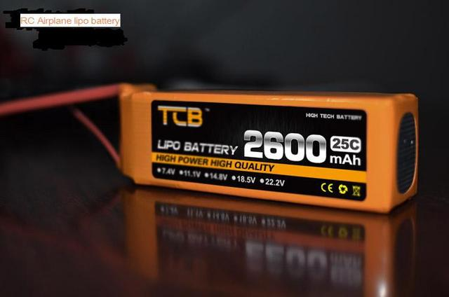 TCB RC airplane lipo battery 11.1v 2600mAh 25C 3s factory-outlet goods of consistent quality free shipping
