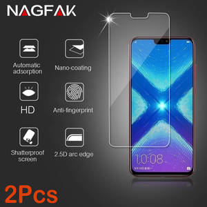 2 Pcs Glass for Huawei Honor 9 8 10 lite Glass on for Honor 8X Protective Tempered