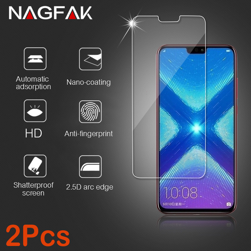 2Pcs Glass for Huawei Honor 9 8 10 lite Glass on the for Honor 8X Protective Tempered Glass for Huawei Honor 10 Screen Protector
