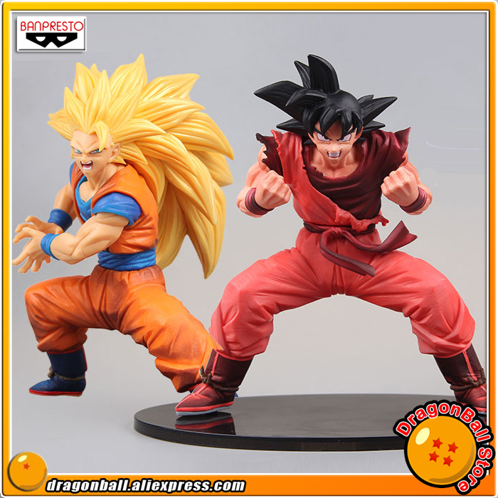 Anime Dragon Ball Z Original Banpresto Son Gokou FES !! vol.3 Collection Figure - Super Saiyan 3 Son Goku + Gokou Kaioken ver. 16cm anime dragon ball z goku action figure son gokou shfiguarts super saiyan god resurrection f model doll