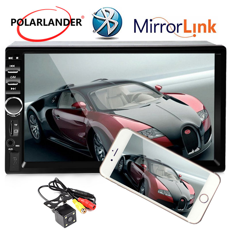 7 Inch Touch Screen Car Stereo Radio 2 DIN MP5 Player with Parking Camera USB TF FM AUX Bluetooth high quality Mirror Link 7 inch 2din car radio mp5 player mp4 touch screen bluetooth rear camera dvr input stereo steering wheel control fm usb tf aux