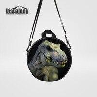 Dispalang Mini Women Backpack Cute Kids Small School Bags Dinosaur Children Round Crossbody Bag Animal Print