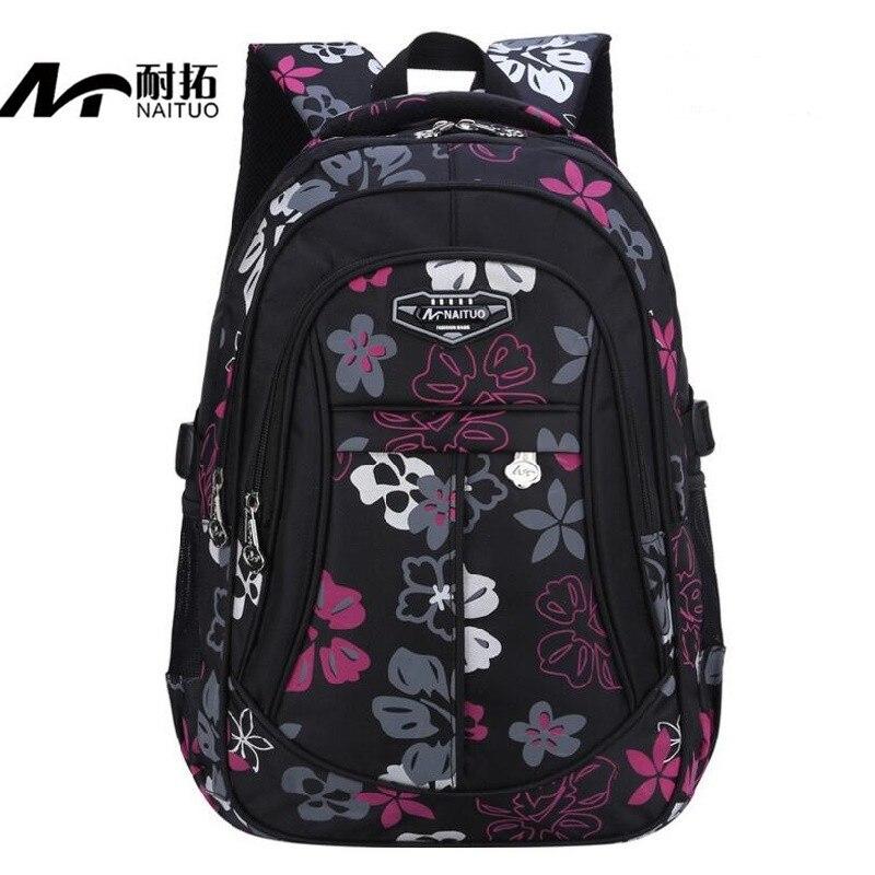 Новый Цветочный Школьные ранцы для Обувь для девочек рюкзак дети школьный Начальная Школа Рюкзак качество нейлон warterproof мешок Для женщин рю...