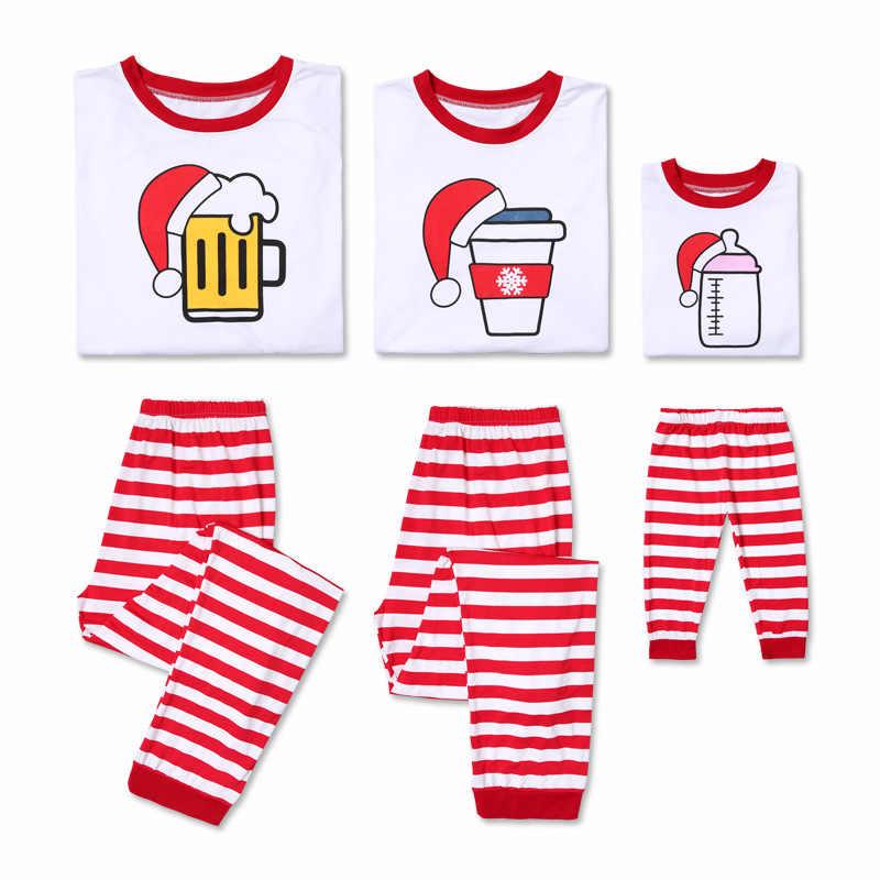 2018 Baru Natal Keluarga Yang Sesuai dengan Natal Piyama Mengatur Wanita Pria Keluarga Bayi Anak Plaid Piyama Anak-anak Fotografi Pakaian Set