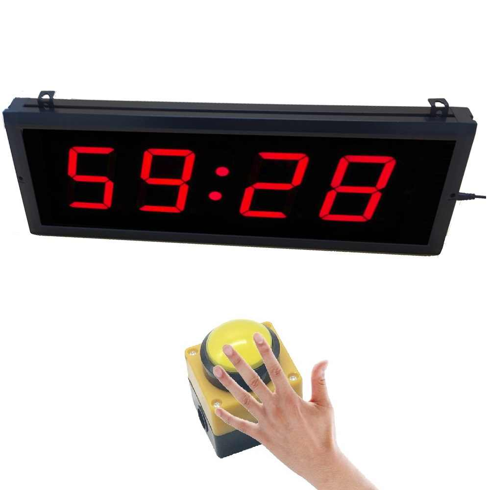 BTBSIGN 3'' 4 Digits LED Countdown Timer With Big Wired