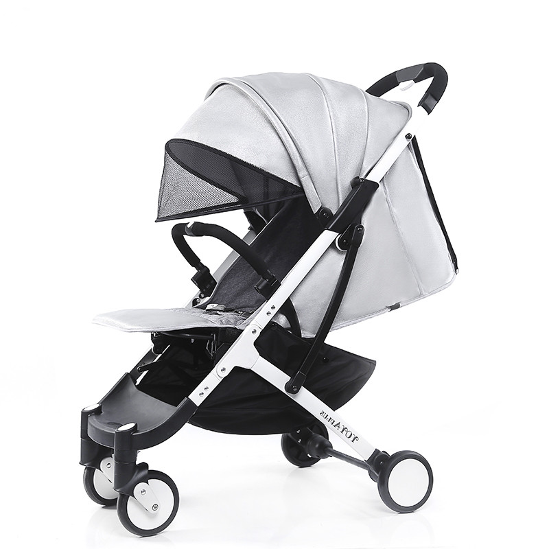 Lightweight baby carriage PU leather strollers can sit can lie foldable portable umbrella car europe no tax 2018 yoyaplus baby stroller lightweight folding umbrella car can sit can lie ultra light portable on the airplane
