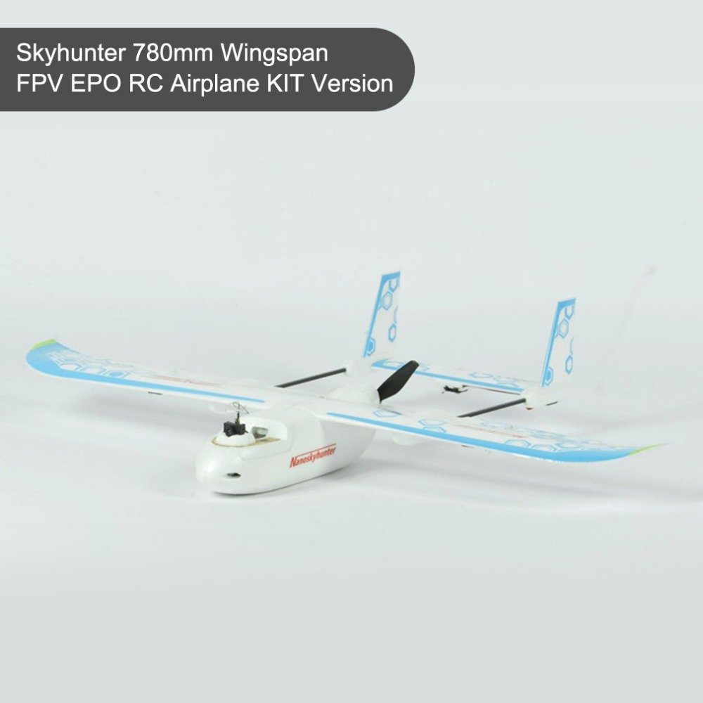 SONICMODELL Skyhunter 780mm Wingspan FPV EPO RC Airplane KIT AIO Camera & 5.8G 200mW Vtx Detachable Quick-Release Structure