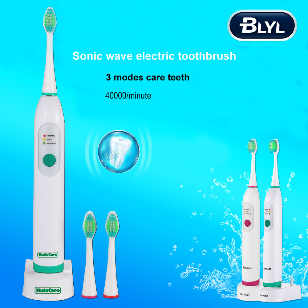 BLYL Wireless Charge Sonic Electric Toothbrush Waterproof Electric Teeth Brush 4 Head Tooth Brush Rechargeable for Kid Adult 2pcs philips sonicare replacement e series electric toothbrush head with cap