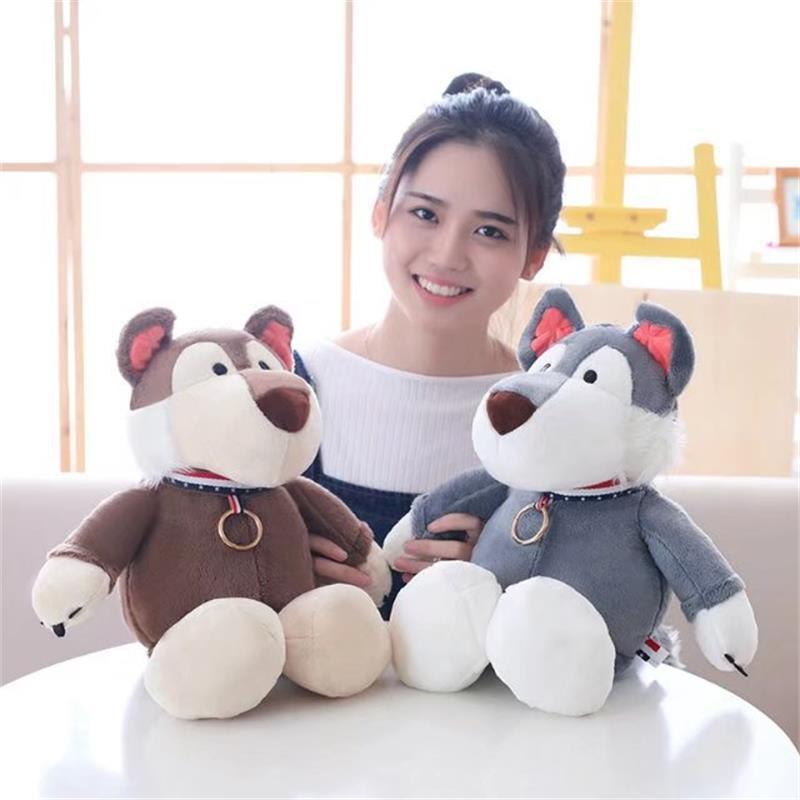 New Arrive 1Pc 30-50Cm Soft Plush Silk Gray Brown dog Coyote dog Lonely old dog plush toy doll Birthday Gift