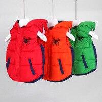 Kids Clothes Boys waistcoat Girls vest Warmed for winter Hooded outerwear Cartoon design sleeveless coat Roupas infantis menino