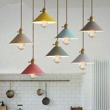 Nordic Modern Pendant Lights Lustres Colorful Metal Fashion Pendant Lamp Luminaire Hanging Lamp Kitchen Bar light Fixtures