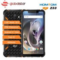 HOMTOM зоджи Z33 OTG Android 8,1 смартфон IP68 MT6739 1,5 ГГц 3 ГБ 32 ГБ 4600 мАч 5,85 Dual Sim Face ID разблокированный телефон Celulares