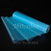 Hot sale Turquoise Sheer Organza Roll 25Meters x 29cm Wedding party Decoration Chair Bow Sash Table Runner Swag(China)