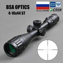 BSA оптика 4-16x44 ST тактический оптический прицел зеленый красный с подсветкой прицел Охотничья винтовка прицел Снайпер страйкбол воздушные пистолеты