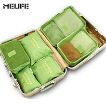 MELIFE 6pcs/set Sports bag high-quality Double Zipper Waterproof Polyester Men Women Travel Swimming Bags packing cubes Dry wet