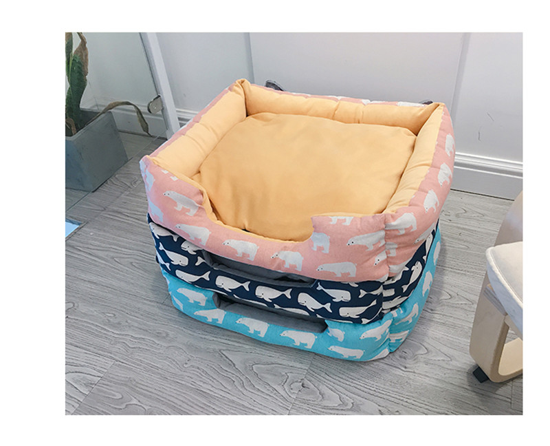 Comfortable Pet Cat Bed Detachable Dog Basket Kennel Nest Big Size Dog Puppy Sleep Cushion Mat Sofa For Small Medium Large Dogs #5