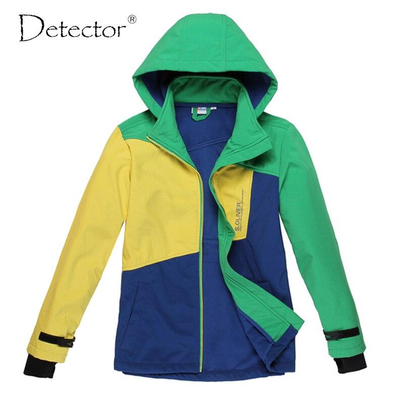 Detektor velkých kluků softshellová bunda zelená žlutá modrá - Sportovní oblečení a doplňky