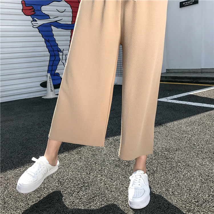19 Women Casual Loose Wide Leg Pant Womens Elegant Fashion Preppy Style Trousers Female Pure Color Females New Palazzo Pants 14