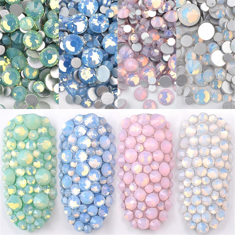 Aufstrebend 1 Pack Mixed Größe Kristall Bunte Opal Nail Art Strass Dekorationen Glitter Edelsteine 3d Maniküre Zubehör Diy Nagel Aufkleber Strass & Dekorationen