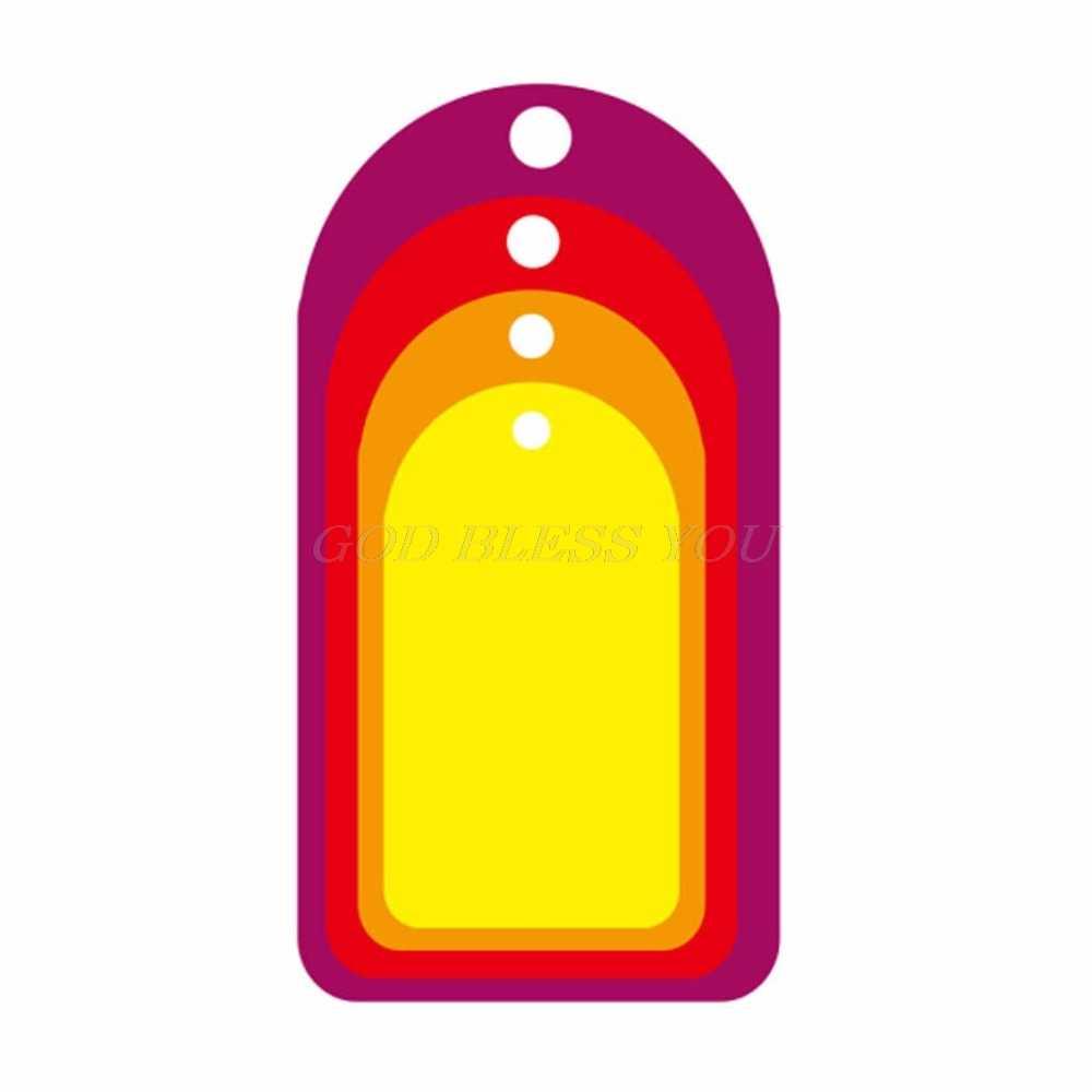 علامة معلقة قطع معدنية يموت Stencil DIY بها بنفسك ألبوم سكرابوكينغ ختم ورقة بطاقة النقش الحرفية