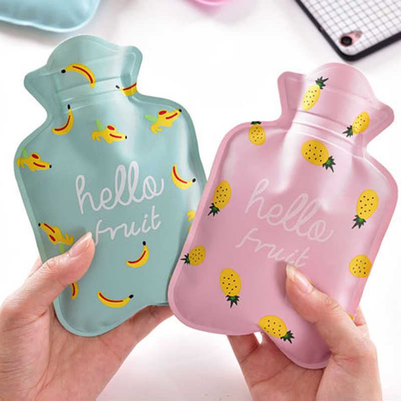 Cartoon Hand Po Warm Water Bottle Cute Mini Hot Water Bottles Small Portable Hand Warmer Water Injection Storage Bag Tools