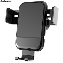 ASKMEER Wireless Charger Electric Induction Car Phone Holder New Fast Charging Mobile Bracket