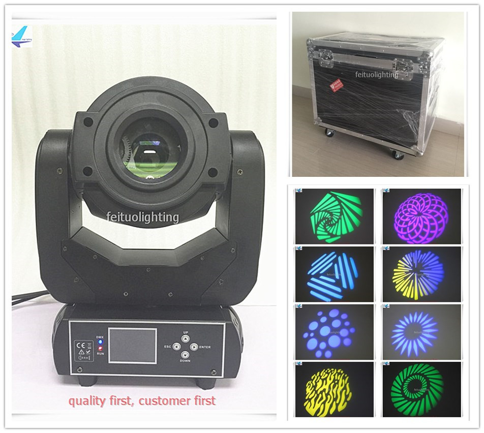 free shipping 8pcs/lot flycase 3 Prism LED 90W Spot Moving Head Light Lyre Gobos Powercon Stage Party Lights Power Event DJ Lamp