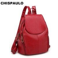FASHION Genuine Leather Backpack Vintage Cow Split Leather Women Backpack Ladies Shoulder Bag School Bag