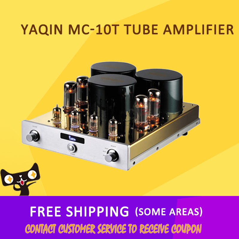 ASD YAQIN MC-10T HIFI EXQUIS EL34 x4 Class 12A x7 40 W x2 110 V -240 V SRPP Integrated A headphone Tube Amplifier free shipping yaqin ms 6v6 class a tube integrated headphone amplifier