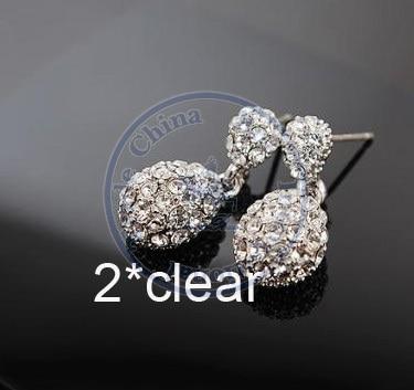 Stud Earrings ear rings Fashion for women Girls lady water drop multi color beauty desgin CN post